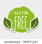 gluten free message with... | Shutterstock .eps vector #783971227