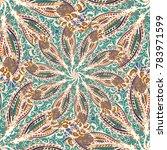 cartoon handdrawn handmade... | Shutterstock . vector #783971599