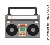 old radio stereo | Shutterstock .eps vector #783972775