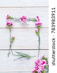 pink spring flower on wooden... | Shutterstock . vector #783983911