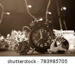 christmas decoration and alarm... | Shutterstock . vector #783985705