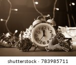 christmas decoration and alarm... | Shutterstock . vector #783985711