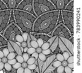 adult coloring monochrome... | Shutterstock .eps vector #783990241