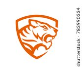 Stock vector tiger logo design 783990334