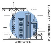 architectural design set icons | Shutterstock .eps vector #783990445