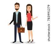 business people couple avatars...   Shutterstock .eps vector #783991279