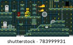 robot factory game design for... | Shutterstock .eps vector #783999931