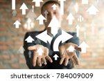 businessman on blurred... | Shutterstock . vector #784009009
