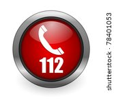 emergency call red button | Shutterstock . vector #78401053