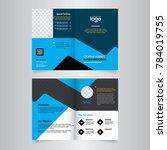geometric elements blue colors... | Shutterstock .eps vector #784019755