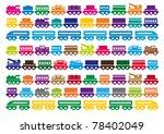 children's wooden toy train | Shutterstock .eps vector #78402049