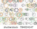 circles or ellipses  abstract... | Shutterstock .eps vector #784024147