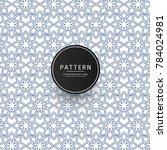 vintage floral seamless pattern ... | Shutterstock .eps vector #784024981