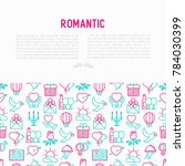 romantic concept with thin line ... | Shutterstock .eps vector #784030399