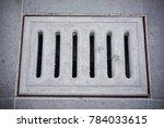 concrete drain hatch cover... | Shutterstock . vector #784033615