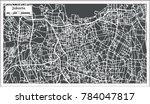 jakarta indonesia city map in... | Shutterstock .eps vector #784047817