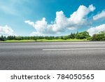 country asphalt road and green... | Shutterstock . vector #784050565