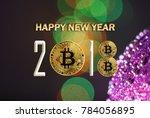 bitcoin design of the new 2018... | Shutterstock . vector #784056895