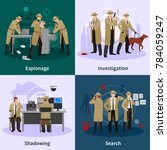 spy flat concept with...   Shutterstock . vector #784059247