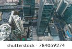 aerial view of business area in ... | Shutterstock . vector #784059274