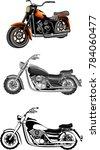 vector set of motorbikes.... | Shutterstock .eps vector #784060477