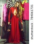 one sexual attractive diva...   Shutterstock . vector #784061731