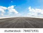 country asphalt road and blue... | Shutterstock . vector #784071931