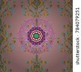 1950s 1960s motifs. neutral ... | Shutterstock .eps vector #784079251
