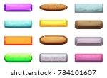 cartoon set of ui buttons....