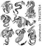 illustration of tattoo art... | Shutterstock .eps vector #784107814