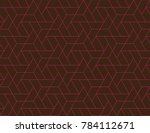 geometric grid with intricate... | Shutterstock .eps vector #784112671
