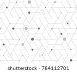 geometric grid with intricate... | Shutterstock .eps vector #784112701