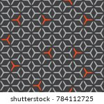 geometric grid with intricate... | Shutterstock .eps vector #784112725