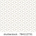 geometric grid with intricate... | Shutterstock .eps vector #784112731