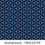 geometric grid with intricate... | Shutterstock .eps vector #784112749