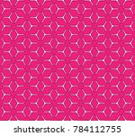 geometric grid with intricate... | Shutterstock .eps vector #784112755
