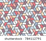 geometric grid with intricate... | Shutterstock .eps vector #784112791