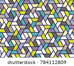 geometric grid with intricate... | Shutterstock .eps vector #784112809