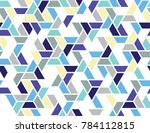 geometric grid with intricate... | Shutterstock .eps vector #784112815