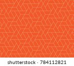 geometric grid with intricate... | Shutterstock .eps vector #784112821