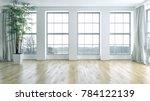 modern bright interiors empty... | Shutterstock . vector #784122139
