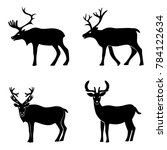 deer collection    silhouette... | Shutterstock . vector #784122634