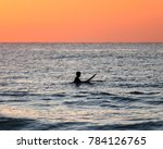 surfer at the middle of the... | Shutterstock . vector #784126765