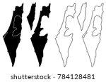 israel map vector illustration  ...   Shutterstock .eps vector #784128481
