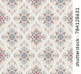 vector damask seamless pattern | Shutterstock .eps vector #784128631
