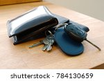 wallet  car key  house keys and ... | Shutterstock . vector #784130659