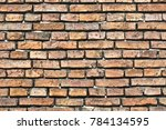 old brick wall. background.... | Shutterstock . vector #784134595