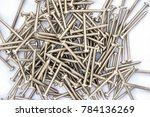 long screws put together in... | Shutterstock . vector #784136269