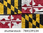 flag of maryland state  usa  on ... | Shutterstock . vector #784139134