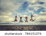 Group Of Four Girls On The...